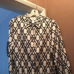 Woman's blouse long sleeve. Silk
